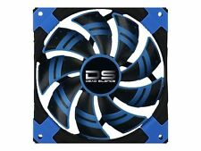 AeroCool Dead Silence 12cm Dual Material Silent PC Cooling LED Fan 1000rpm Blue