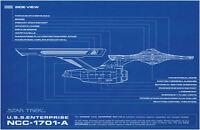Framed Print - STAR TREK Blueprint USS Enterprise NCC-1701-A (Picture Poster Art