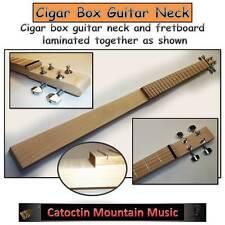 """""""Nice & Easy"""" Fretted Cigar Box Guitar.Neck Kit, Hardwood Neck 4-string. DIY -t"""