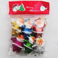 6pcs Christmas Santa Claus Ornaments Party Xmas Tree Hanging Decoration Charms