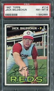 1967 Topps #114 Jack Baldschun PSA 8 NM-MT