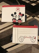 Adorable Loungefly Disney MICKEY and MINNIE Pinky Love Card Holder Wallet
