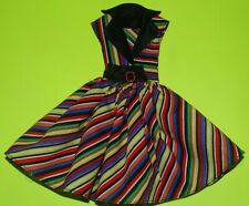 Rainbow Shirt  Dress For Barbie Vintage Doll Reproduction Repro, ooak,new