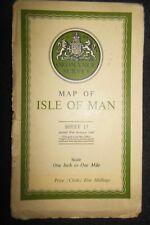 The Isle of Man (1942) Ordnance Survey Folding Map 17 (War Revision) Wwii Era