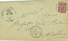 GG814-CAMPANIA, SAN SOSSIO, COLLETTORIA OTTAGONALE PER AVELLINO, 1887