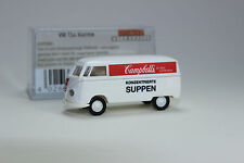 VW Cambells Soup Bus HO Scale Scenery 1950-1954 Volkswagen T1a Kasten Cargo Van