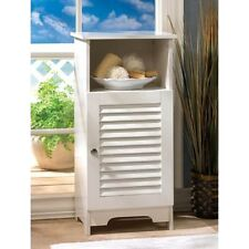 white shutter shabby Cabinet End side bedside Table Nightstand drawer shelf