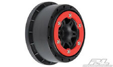 "Pro-Line Split Six 2.2""/3.0"" Red/Black Bead-Loc Wheels PRO271504 Short Course"