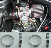 Suzuki Bandit 600 8x STAINLESS Carburettor Clamps Air Filter Tridon / Zero x8mm