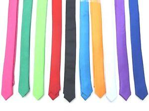 New 1.5 inch Skinny Slim Retro Tie Narrow Thin Necktie Solid Color USA SELLER
