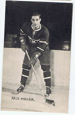 1948-52 Exhibits Hockey Card Paul Meger Montreal Canadiens (5 1/4 x 3 1/4)