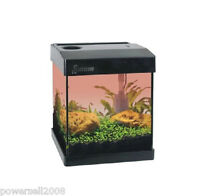 G20 Mini Glass Enclosed Small Ecological Gift Aquarium Square Fish Tank Black &$