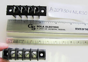 """Magnum A207304-R30, 4 Position, Single Row, 3/8"""" Centers Right Angle PC Terminal"""