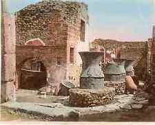 Italia, Pompéi, Pompei forni pubblici grano di XVIII secoli  Vintage albumen pri
