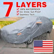 7 Layers Full Car Cover Outdoor & Indoor Waterproof Rain UV Scratch Resistant US