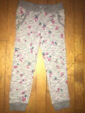Girls Gray Floral Jogger Pants Size XS 4/5