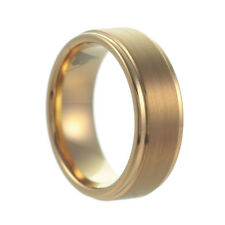 6 mm genuine Tungsten mens Womens Wedding Ring wedding band LASTING r3003 gold