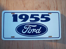 1955 Ford License plate tag 55 Crown Victoria Thunderbird Ranch Wagon F100 truck