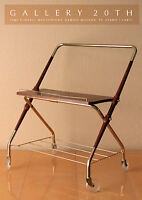 RARE! DANISH MID CENTURY MODERN ROLLING TV CART! ATOMIC VTG 50'S MODERNIST RETRO