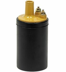 1965 - 1973 Ford Mustang Galaxie Fairlane Maverick Ignition Coil Yellow Top New