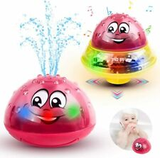 Baby Bath Toys Light Up Bathtub Toys 2 in 1 Automatic Induction Water Spray