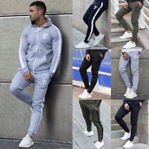 Mens Fleece Joggers Casual Sweatpants Slim Fit Tracksuit Jogging Bottoms Only