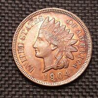1904 Indian Head Cent/Penny - BU, Red-Brown RB