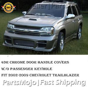 Chrome Door Handle Covers Fit Chevrolet Trailblazer 2002 03 04 05 06 07 08 2009
