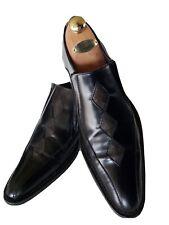 Vintage John fluevog RONNIE Diamond Retro Black Slip On Oxfords Men's Size 10