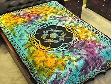 "Dragonfly Tie Dye Tapestry 72 x 108"" Wiccan Pagan Altar Supply #TP64TD"