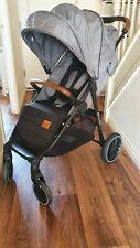 Kinderkraft Grande 2020 Baby Grey Pushchair Stroller - From Birth to 15kg