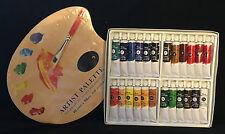 Oil Paint Set 24 x18ml + Artist Disposable Paint Palette 10' x 12'  Oil Paints