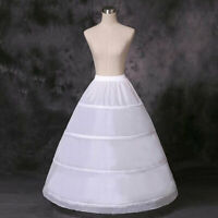 Petticoat Bridal Wedding Dress White Skirt Long Crinoline Underskirt Slips Hoop