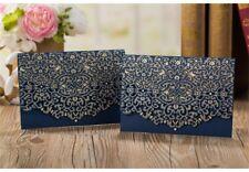 10pcs Wedding Invitation Laser Cut Card Personalized Romantic Party Floral Lace