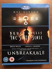 M. Night Shyamalan: Signs / Unbreakable / The Sixth Sense (Blu-ray Disc, 2008)