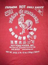 Sriracha Hot Sauce T Shirt Sz XL Chili Sauce Thailand Condiment Huy Fong Foods