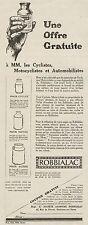 Y8511 ROBBIALAC pour Motos, Autos & Cycles - Pubblicità d'epoca - 1925 Old ad