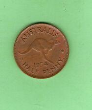 1954  AUSTRALIAN BRONZE HALFPENNY COIN