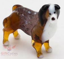 Art Blown Glass Figurine of the Australian Shepherd dog