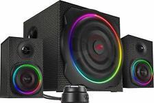 SPEEDLINK GRAVITY RGB 2.1 Subwoofer System Lautsprecher für PC Boxen Bluetooth