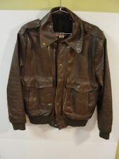 Vintage Brooks Sportswear Inc Brown Leather Bomber Biker Jacket Size 40 Men's