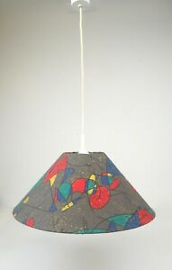 1980S VINTAGE POSTMODERN MEMPHIS SOTTSASS AGE HANGING CEILING LAMP PENDANT