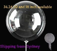 """Bobo balloon Transparent Clear Bubble Balloon 20"""" Inflated Wedding Birthday Gift"""