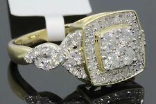 10K YELLOW GOLD 1.10 CT WOMEN REAL DIAMOND ENGAGEMENT RING WEDDING RING BRIDAL