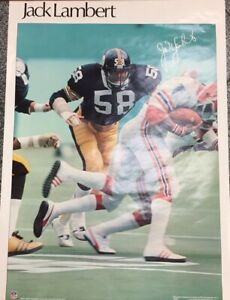 JACK LAMBERT 1979 SI PITTSBURGH STEELERS NFL POSTER Sports Illustrated 70's Pic