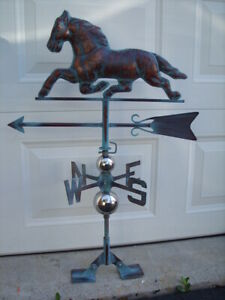 Horse Running Weathervane Antiqued Copper Finish Weather Vane HandCrafted