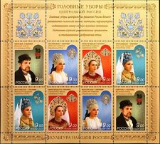 Russia rusia 2009 klb 1588-91 tocados ropa clothes mnh