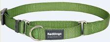 Premium Red Dingo Training Semi-Choke Dog Collar-Martingale-Pick Size/SolidColor
