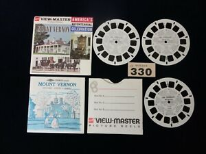MOUNT VERNON America`s Bicentennial Celebration Viewmaster Reels & Booklet A812