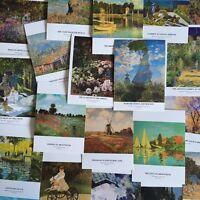 Lots 30 pcs Claude Monet Oil Paintings Impressionism Postcards Bulk Postcrossing